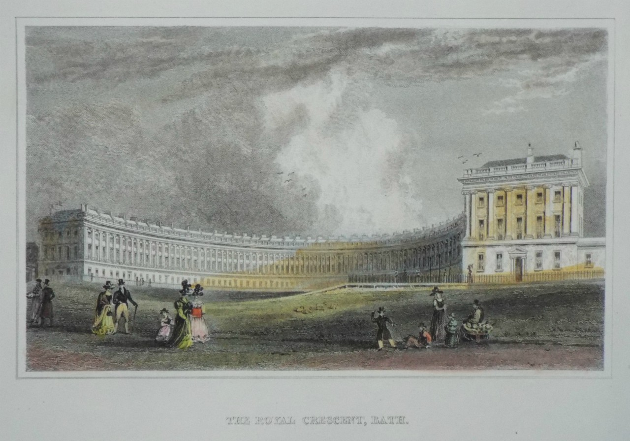 Print - The Royal Crescent, Bath.
