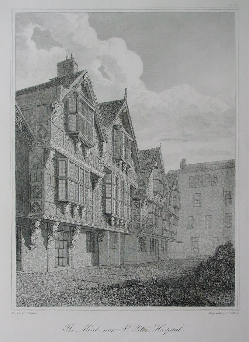 Etching - The Mint, now St. Peter's Hospital. - Skelton