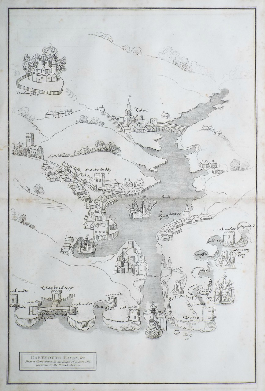 Map of Dartmouth - Lysons