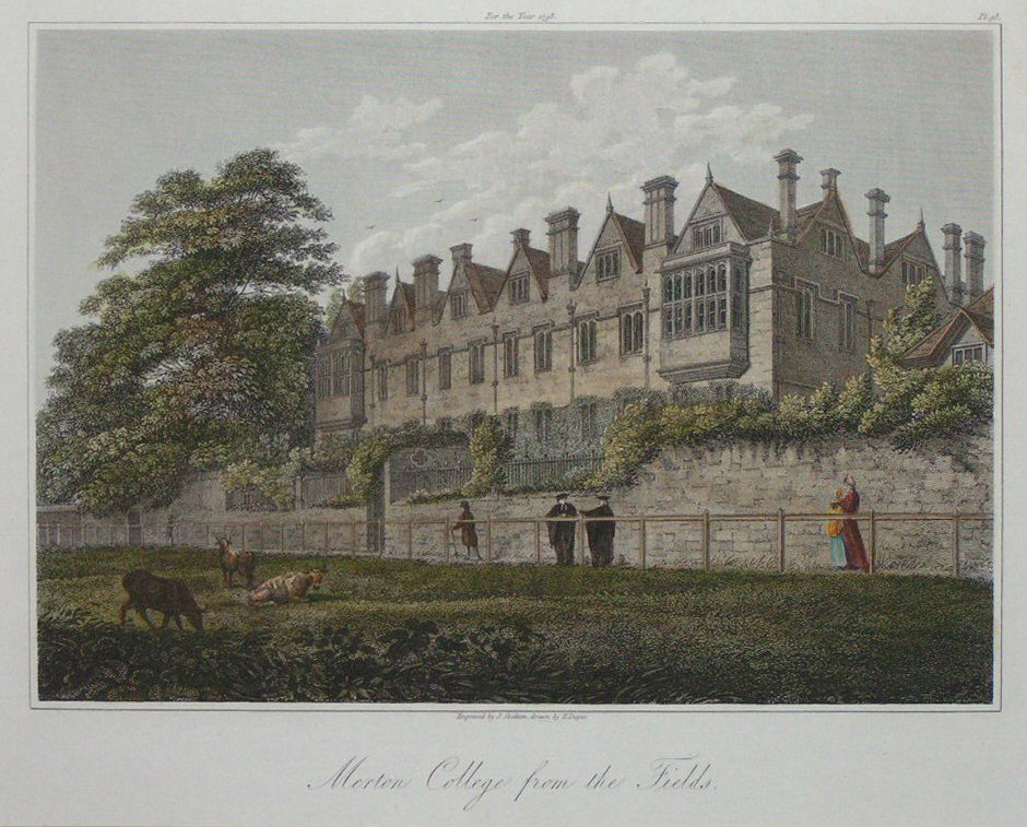 Print - Merton College from the Fields - Skelton