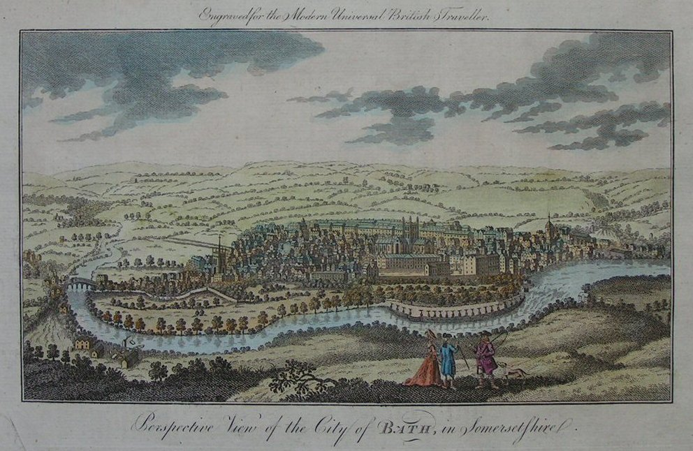 Print - Perspective View of the City of Bath, in Somersetshire