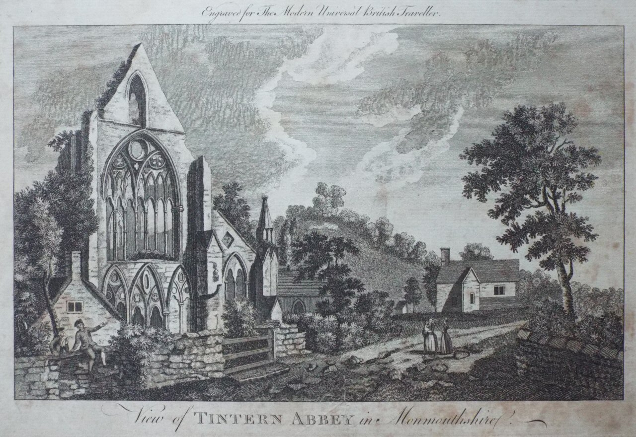 Print - Tintern Abbey, in Monmouthshire.