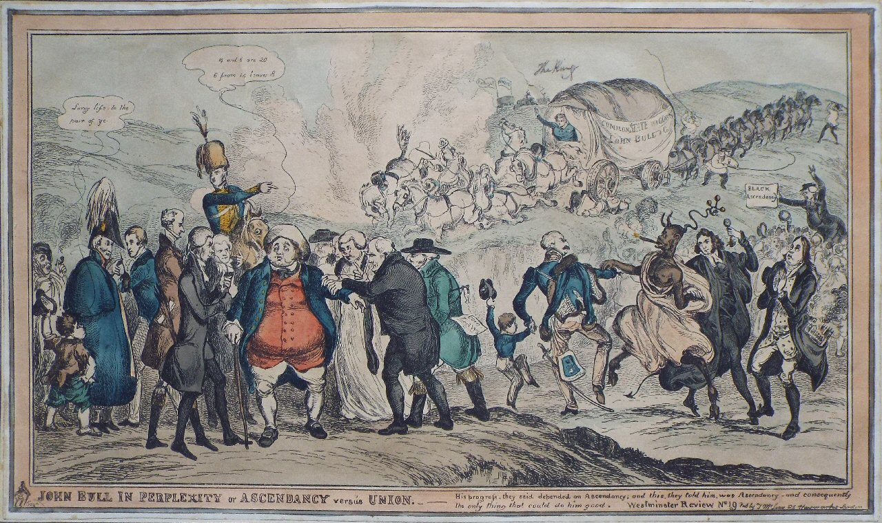 Etching - John Bull in Perplexity or Ascendency versus Union.