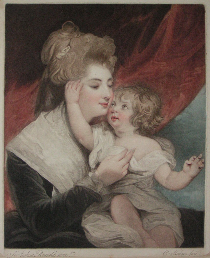 Stipple - Lady Dashwood and Child - Hodges