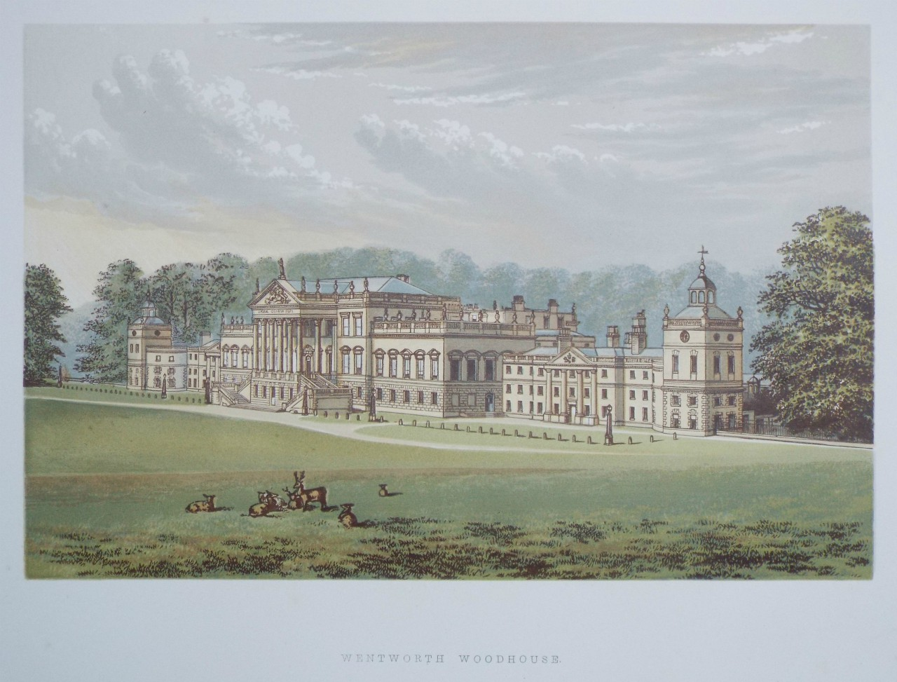Chromo-lithograph - Wentworth Woodhouse.