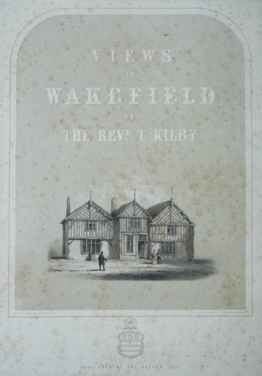Lithograph - (Wakefield - Old Building in Westgate) - Bevan