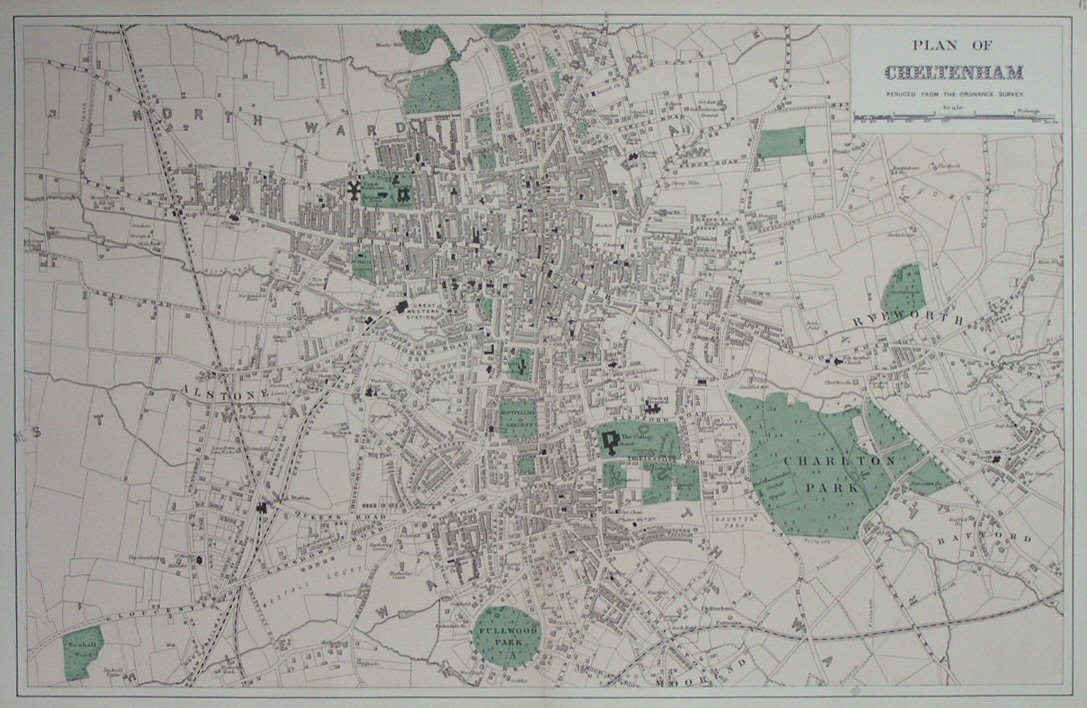 Map of Cheltenham - Cheltenham