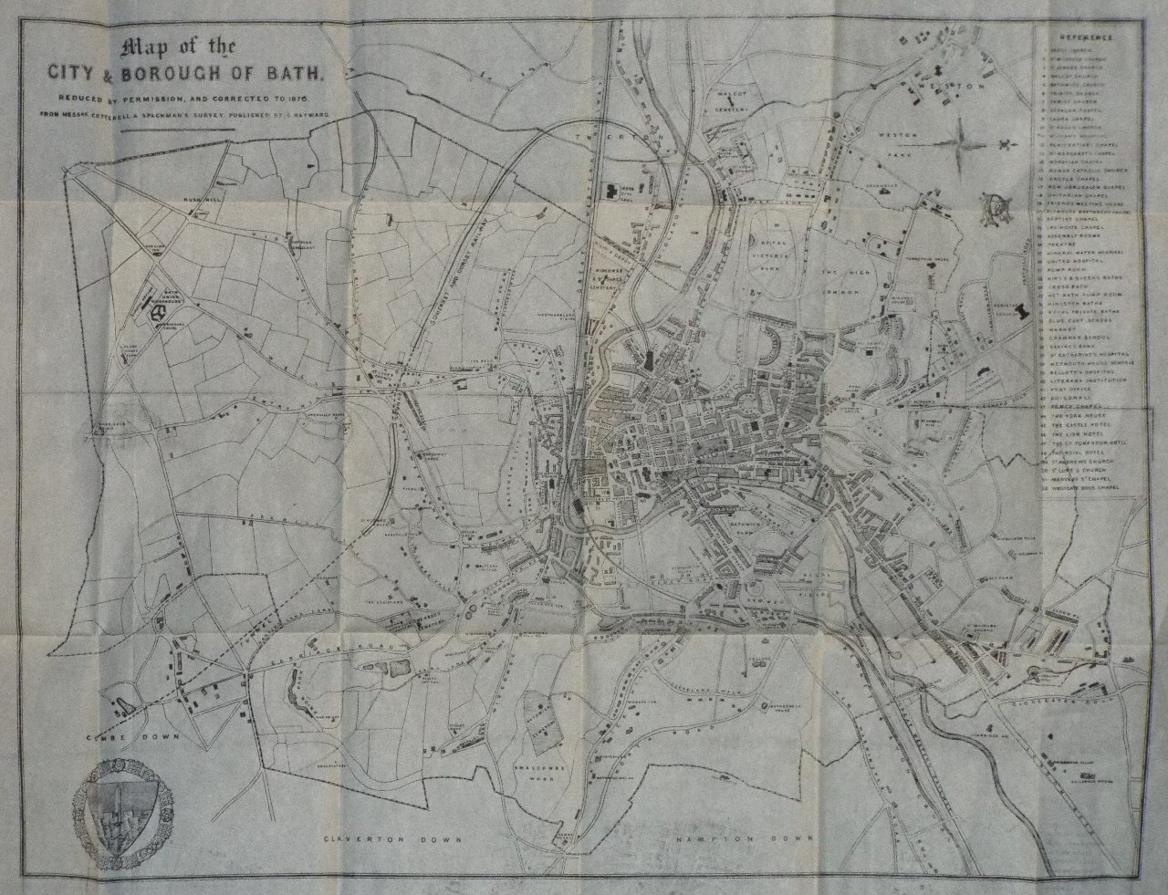 Map of Bath - Cotterell
