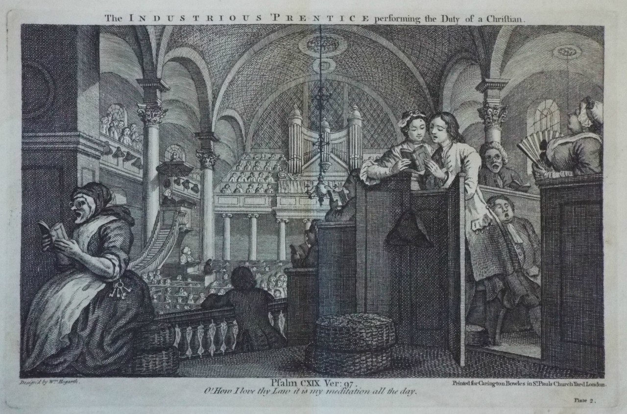 Print - The Industrious 'Prentice performing the Duty of a Christian.