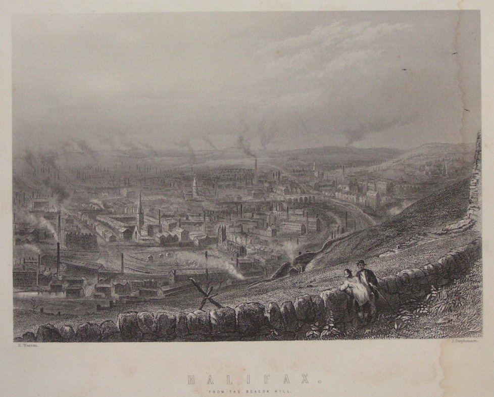 Print - Halifax from Beacon Hill - Stephenson
