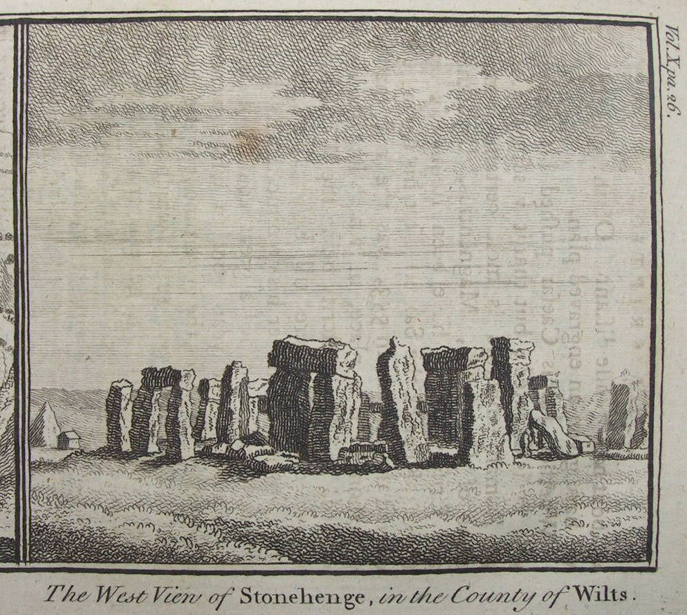 Print - The West View of Stonehenge in the County of Wilts