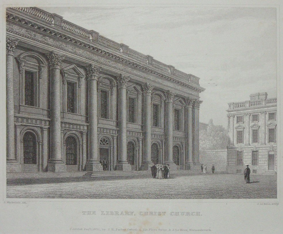 Print - The Library. Christ Church. - Le