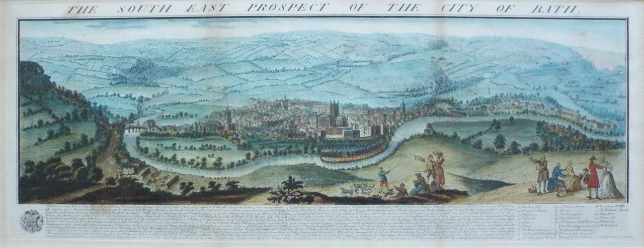 Print - The South East Prospect of the City of Bath. - Buck