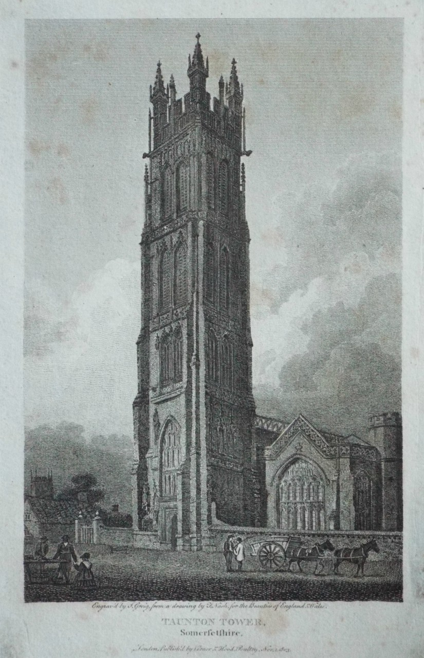 Print - Taunton Tower, Somersetshire.