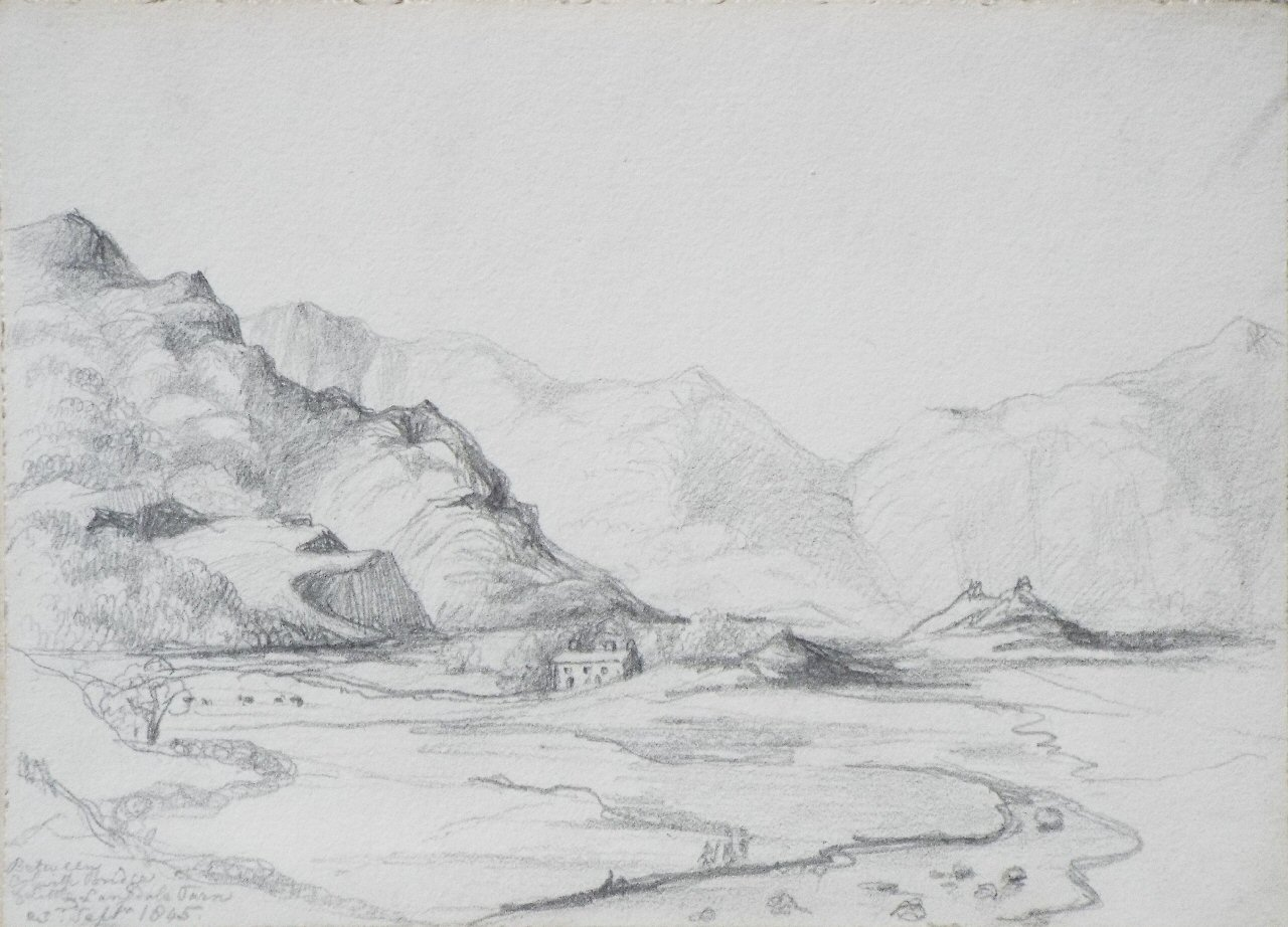 Pencil sketch - Between Colwith Bridge & Little Langdale Tarn sep 23rd 1845