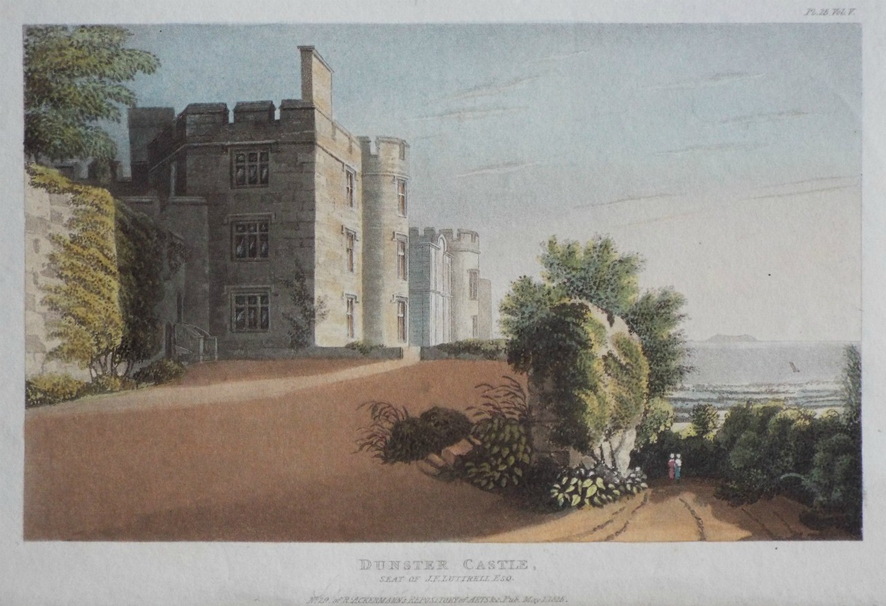 Aquatint - Dunster Castle, Seat of J. F. Luttrell Esq.