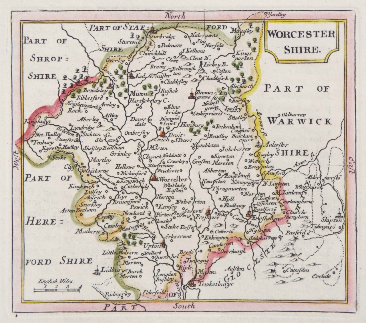 Map of Worcestershire