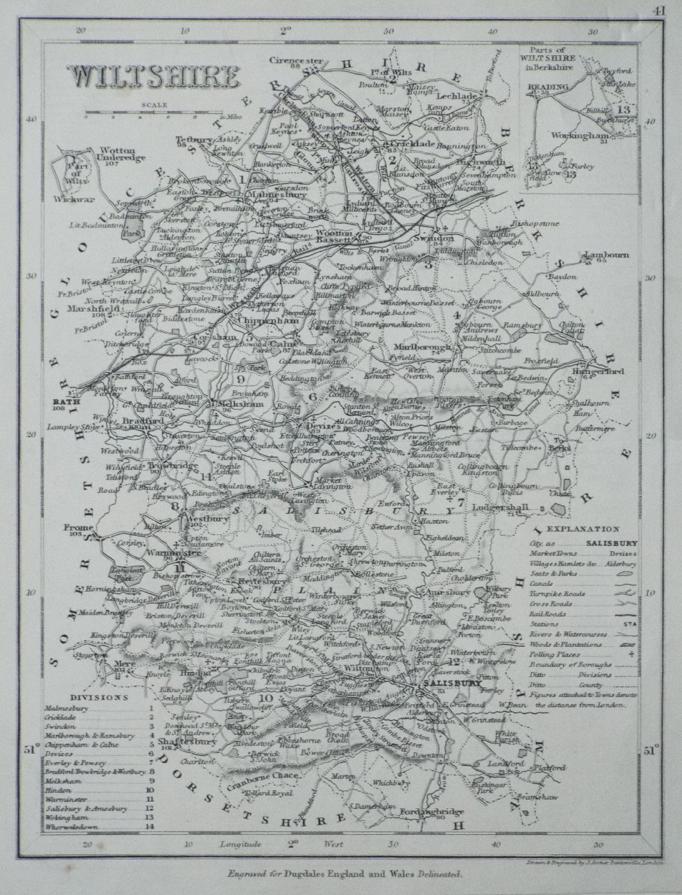 Map of Wiltshire - Archer