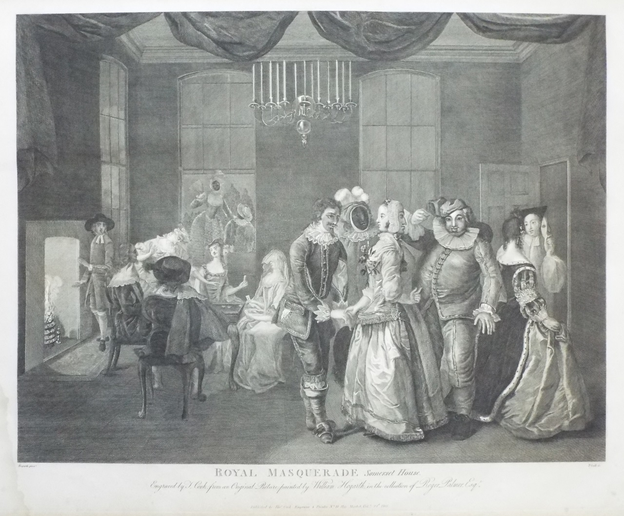 Print - The Royal Masquerade at Somerset House - Cook