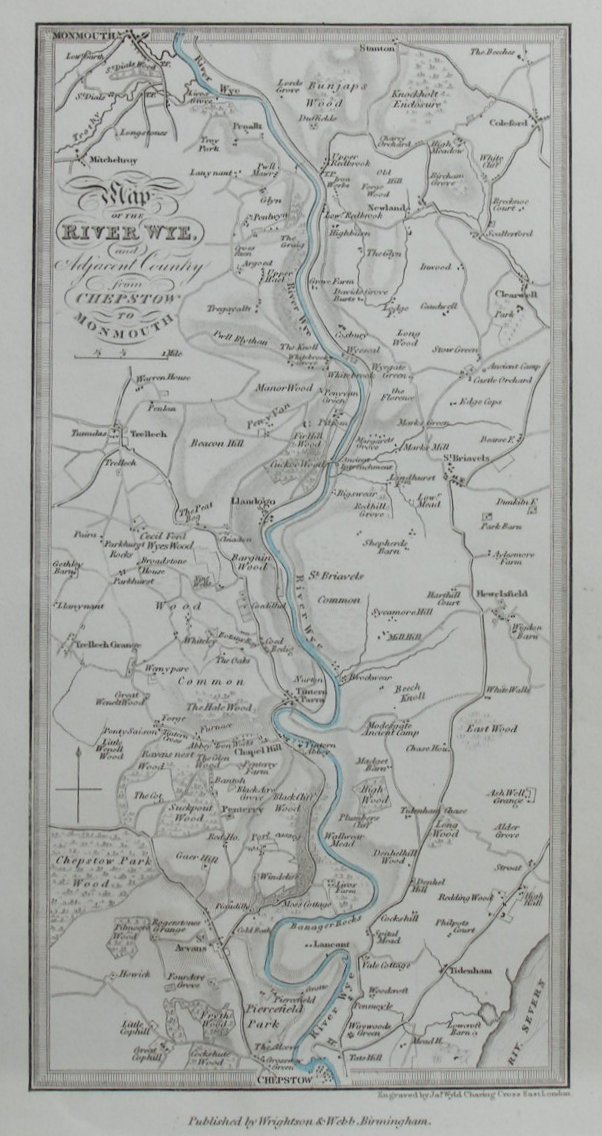 Map of River Wye