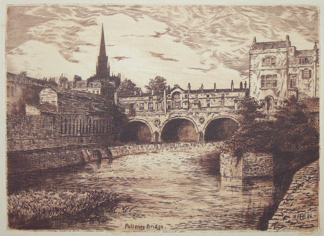 Etching - Pulteney Bridge - Ellison