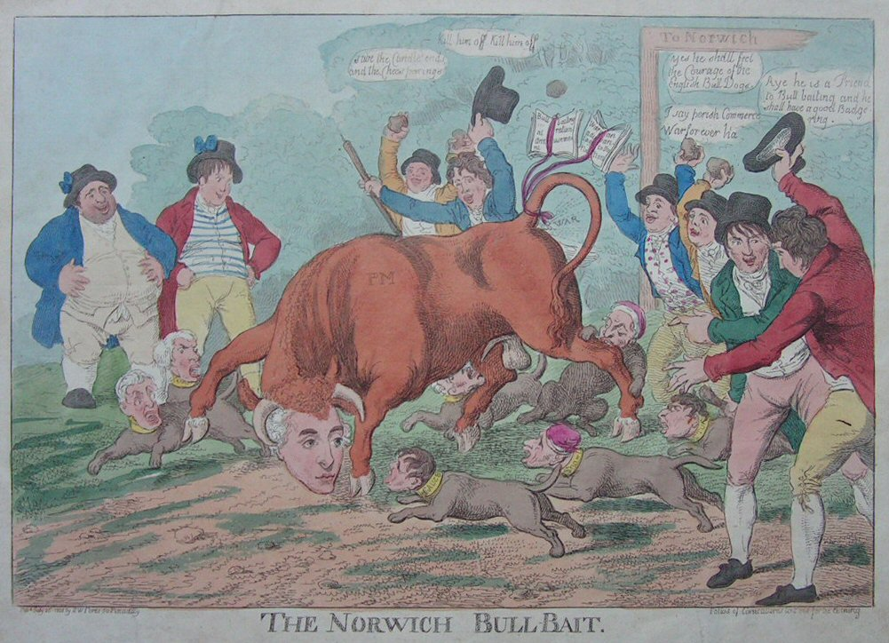 Etching - The Norwich Bull-Bait - Williams