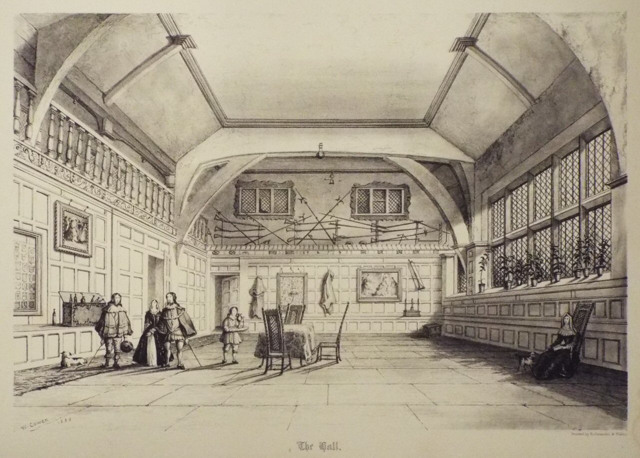 Lithograph - The Hall. - Cowen