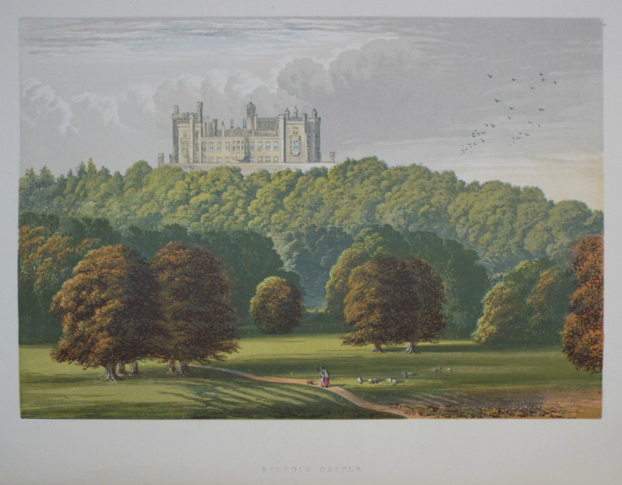 Chromo-lithograph - Belvoir Castle.