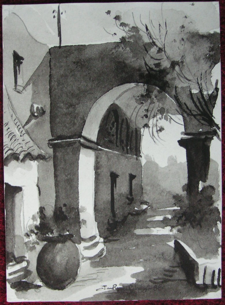 Ink wash - Monasteria de Santa Catalina