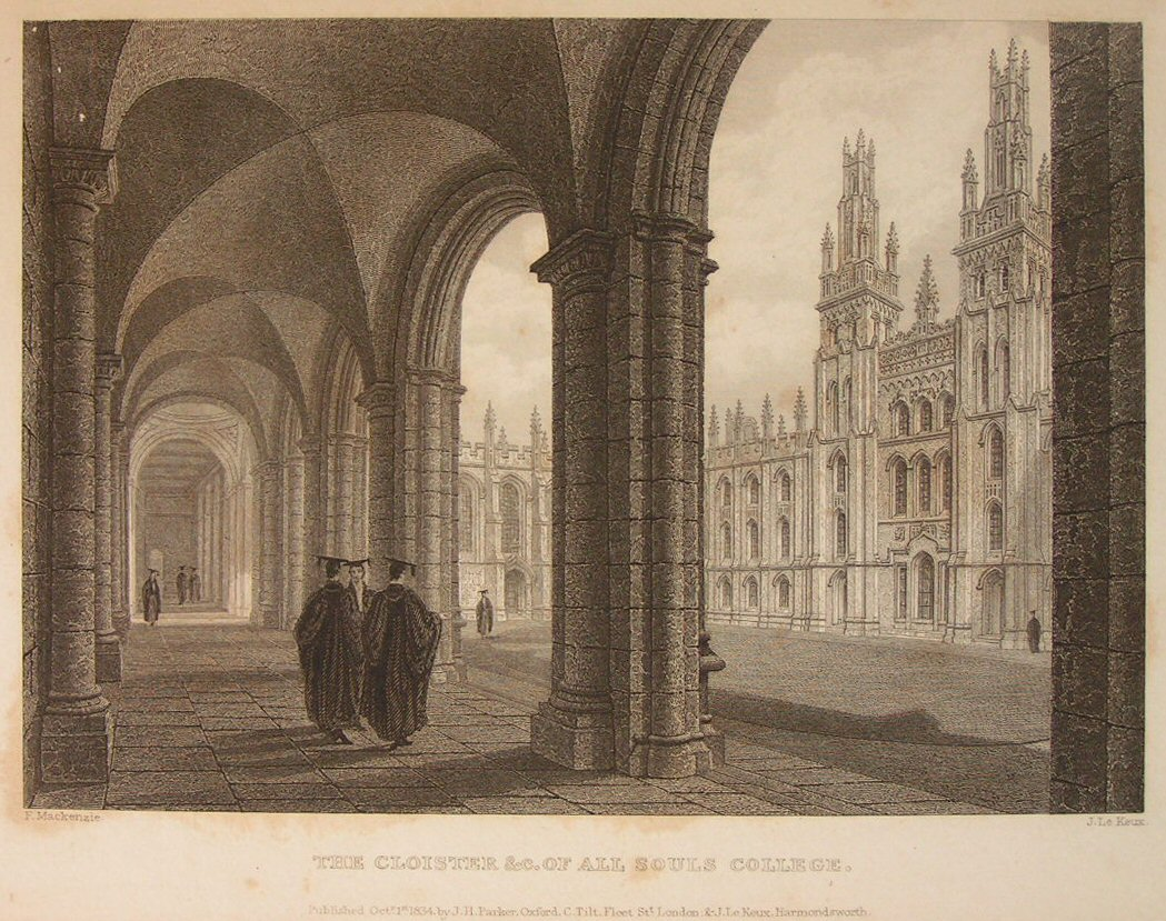 Print - The Cloisters &c. of All Souls College. - Le