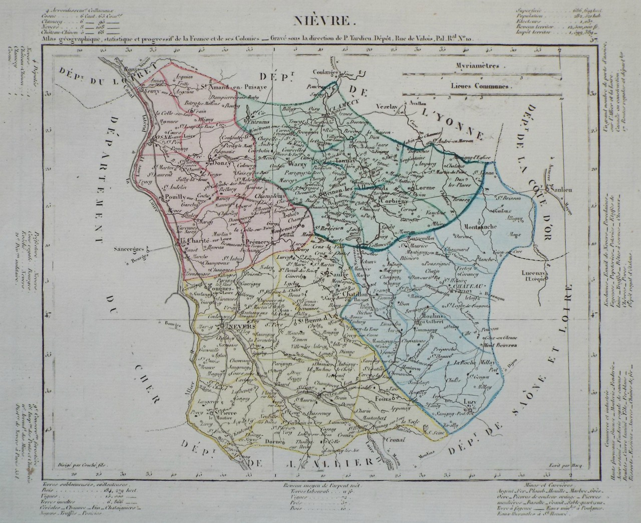 Map of Nievre