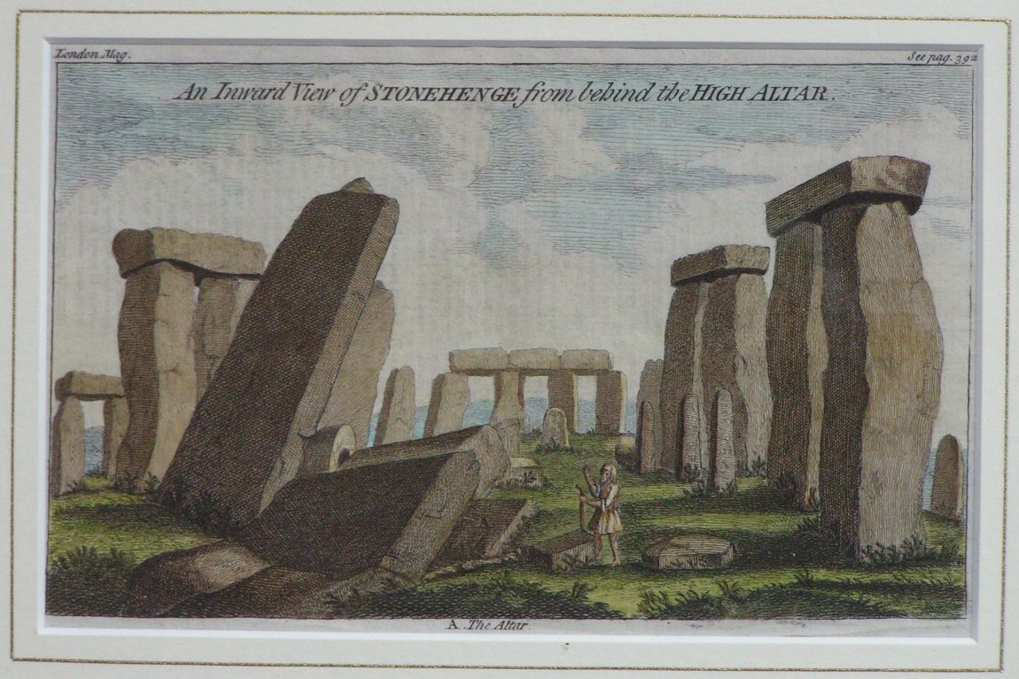 Print - An Inward View of Stonehenge from behind the High Altar