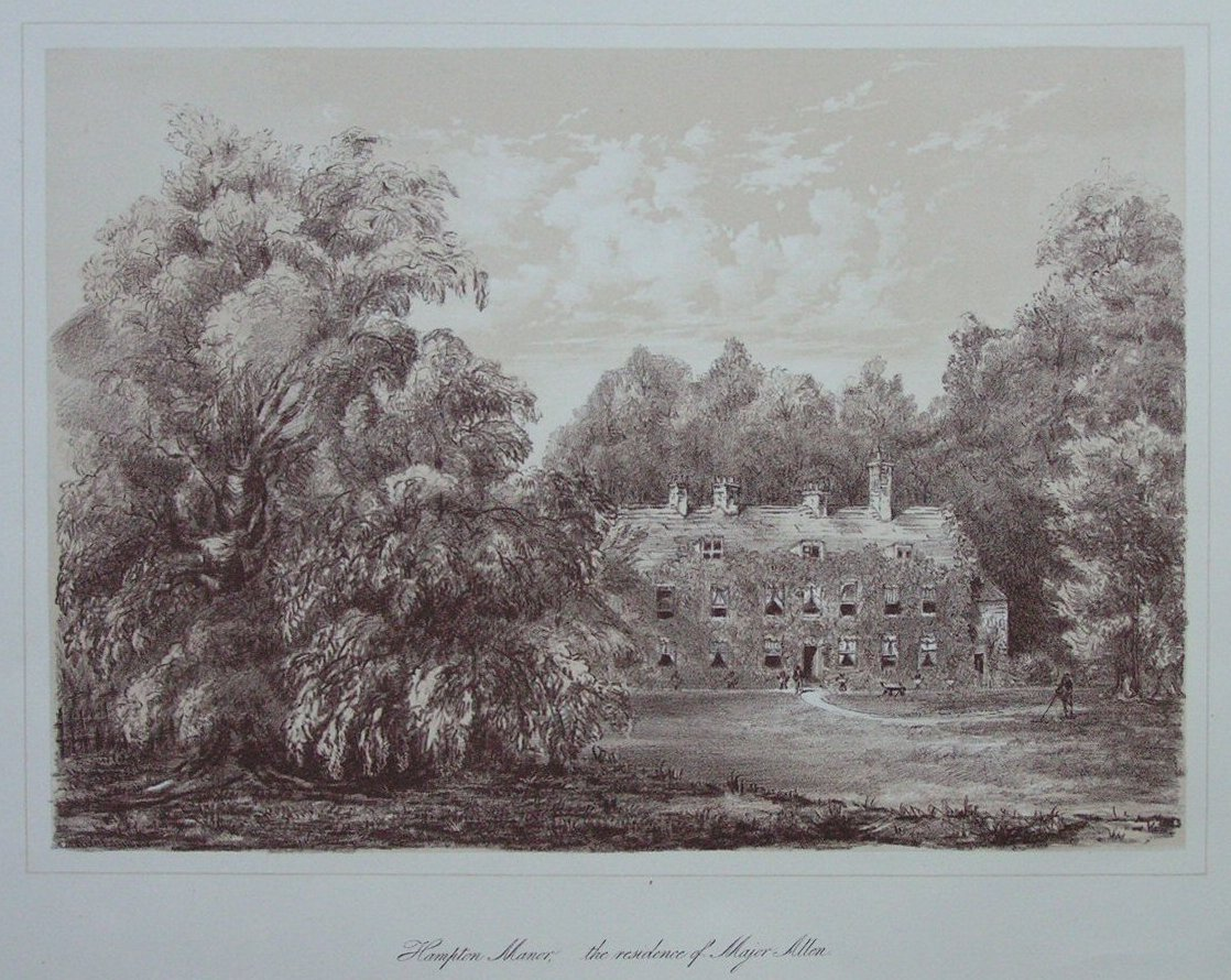 Lithograph - Hampton Manor. The Residence of Maj.Allen