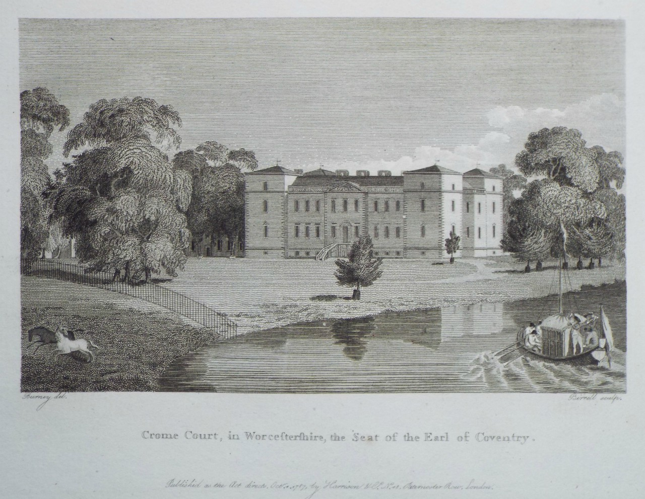 Print - Crome Court, in Worcestershire, the Seat of the Earl of Coventry. -