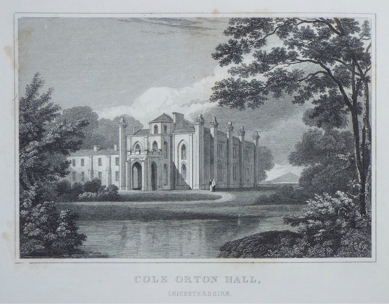 Print - Cole Orton Hall, Leicestershire. - Radclyffe