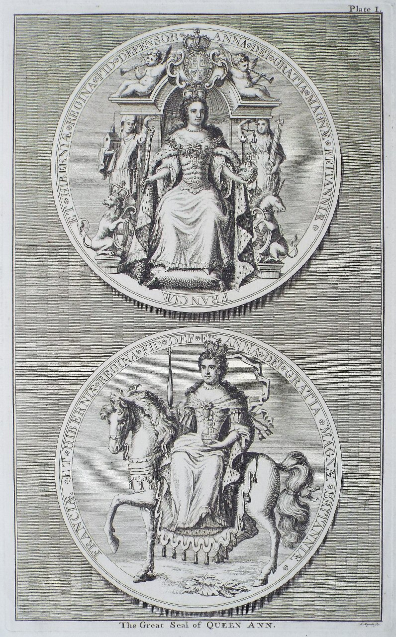 Print - The Great Seal of Queen Ann. Plate I - Myndz