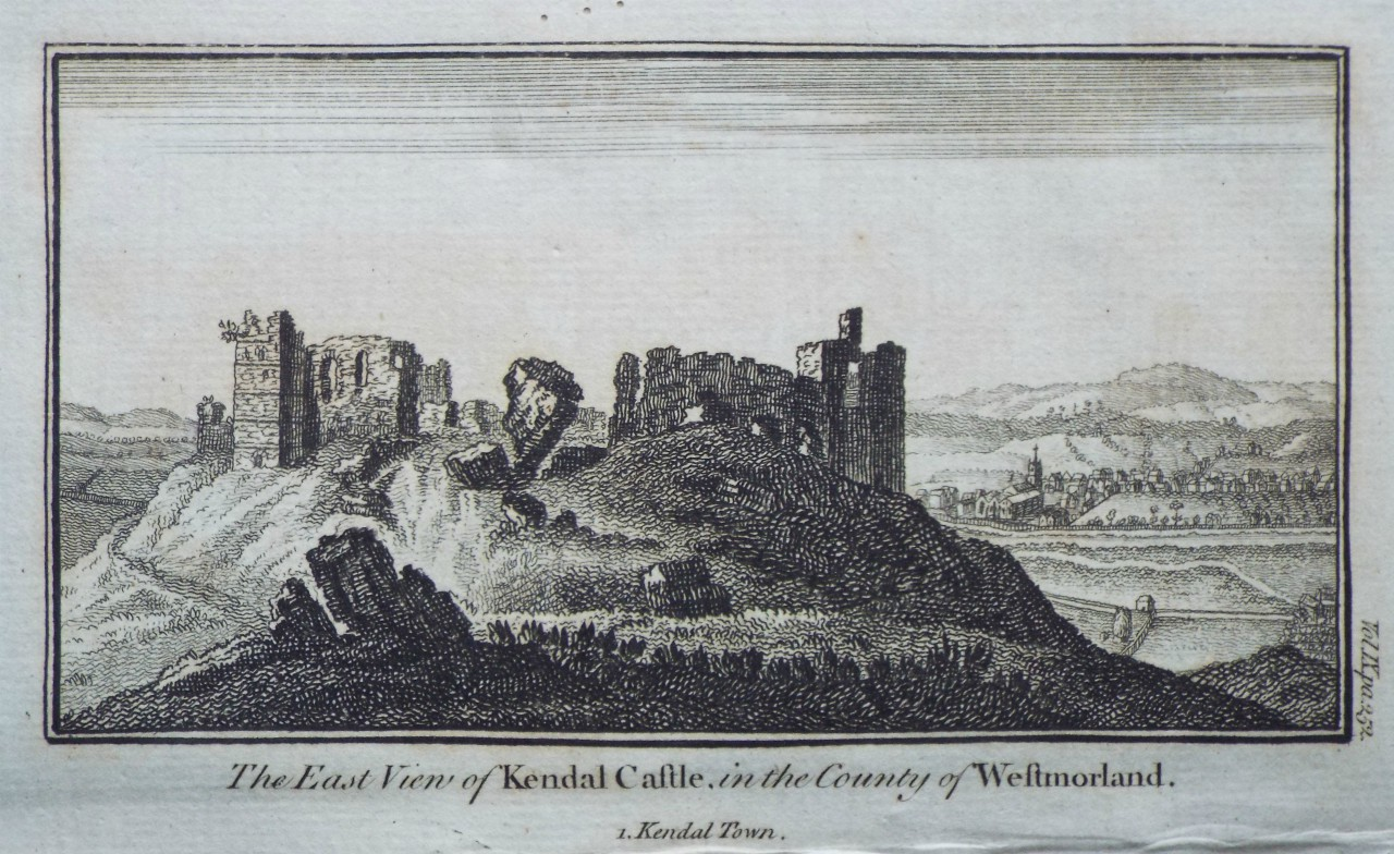 Print - The East View of Kendal Castle, in the County of Westmorland.