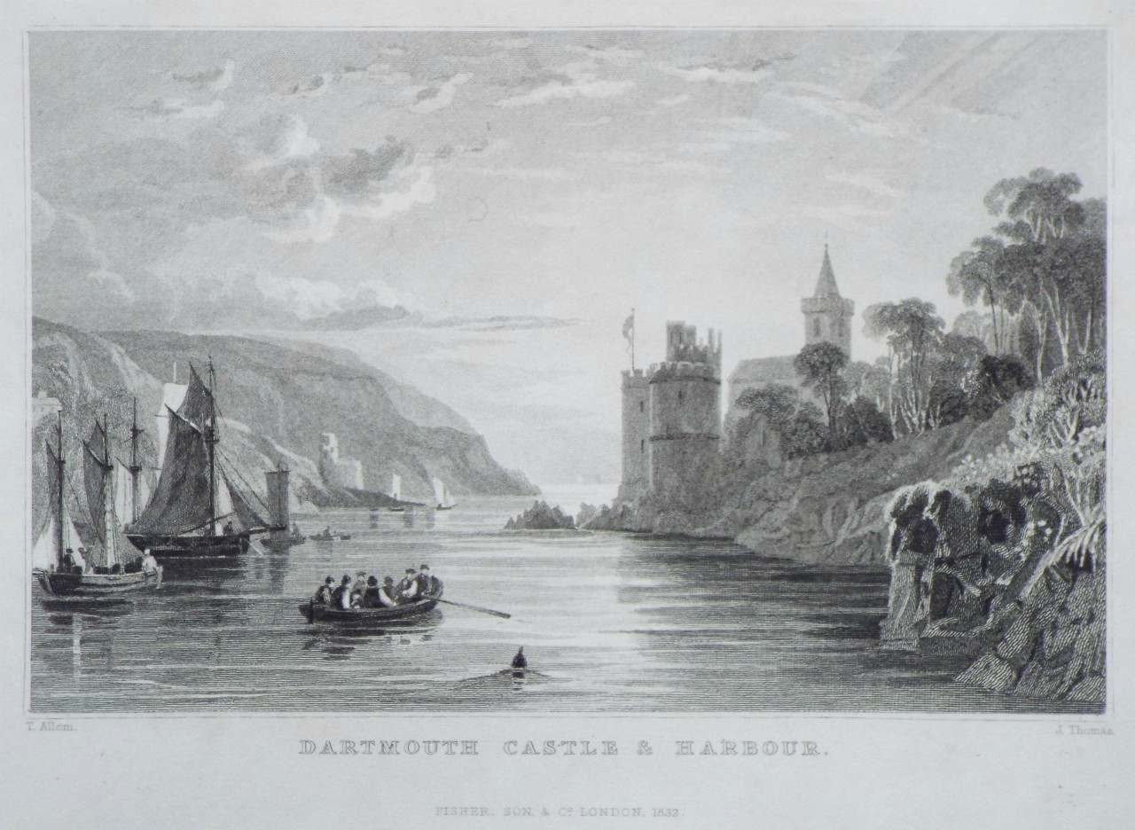 Print - Dartmouth Castle and Harbour.. - Thomas