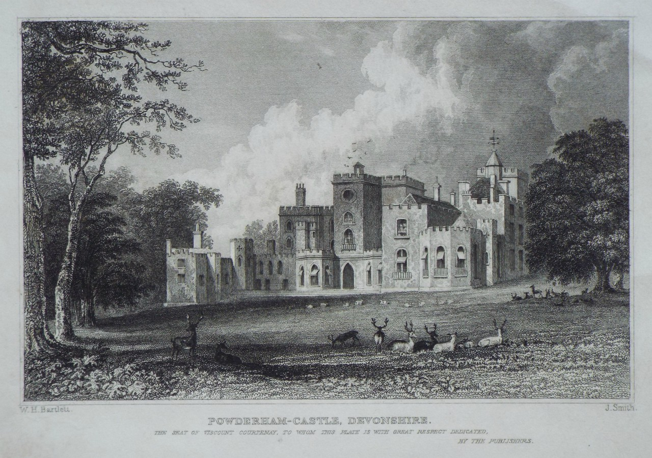 Print - Powderham-Castle, Devonshire. - Smith