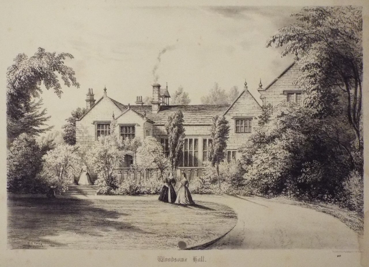 Lithograph - Woodsome Hall. - Cowen