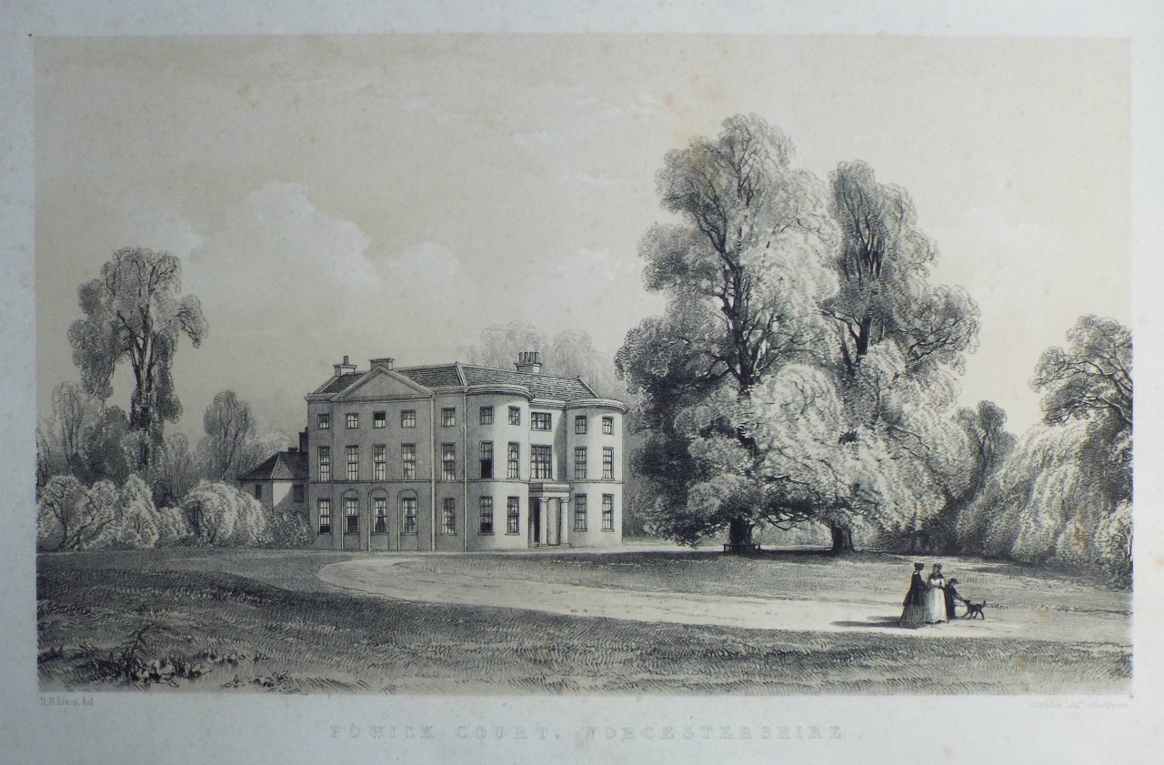 Lithograph - Powick Court, Worcestershire.