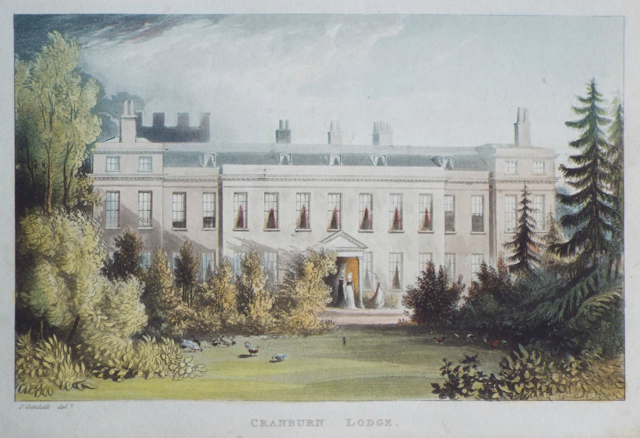 Aquatint - Cranburn Lodge.