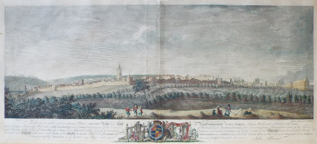 Print - View of Newcastle-upon-Tyne - Fittler