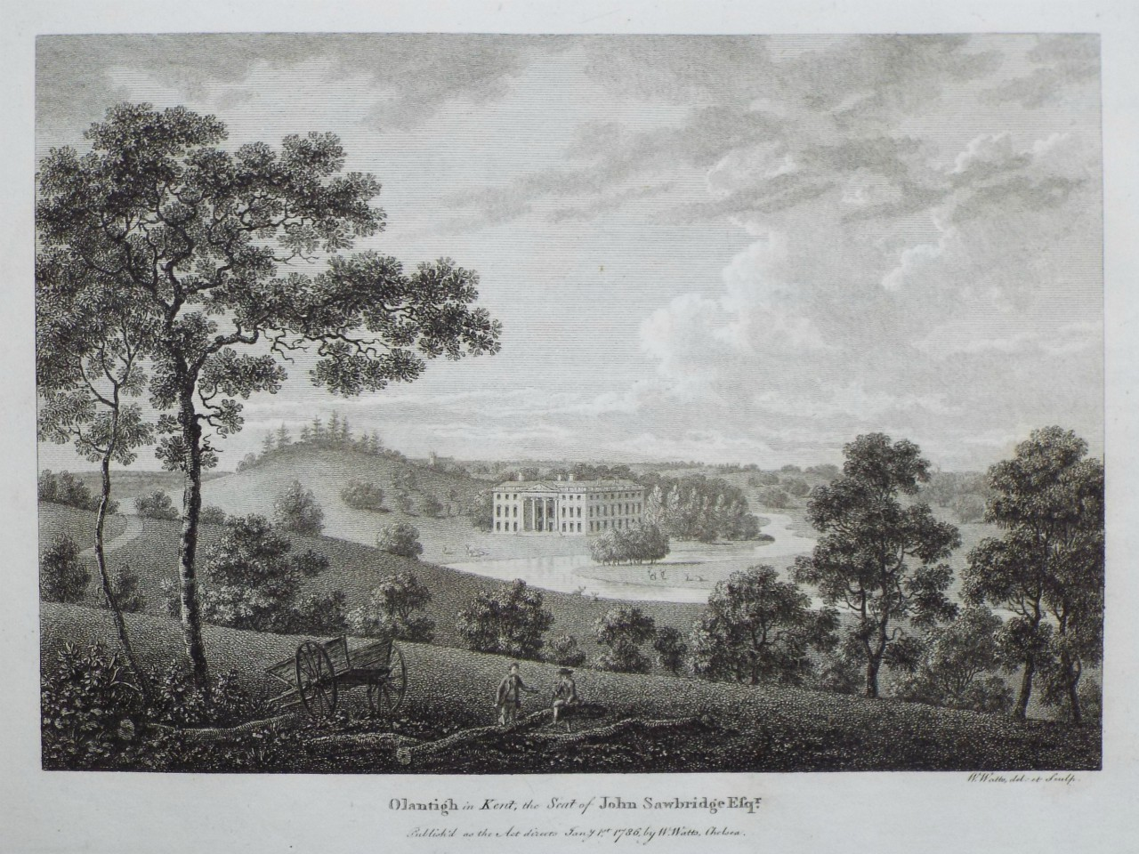 Print - Olantigh in Kent, the Seat of John Sawbridge Esqr. - Watts