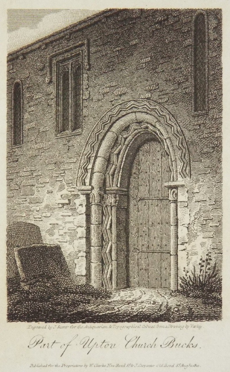 Print - Part of Upton Church Bucks. - Storer