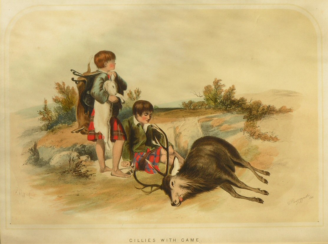 Lithograph - Gillies with Game -