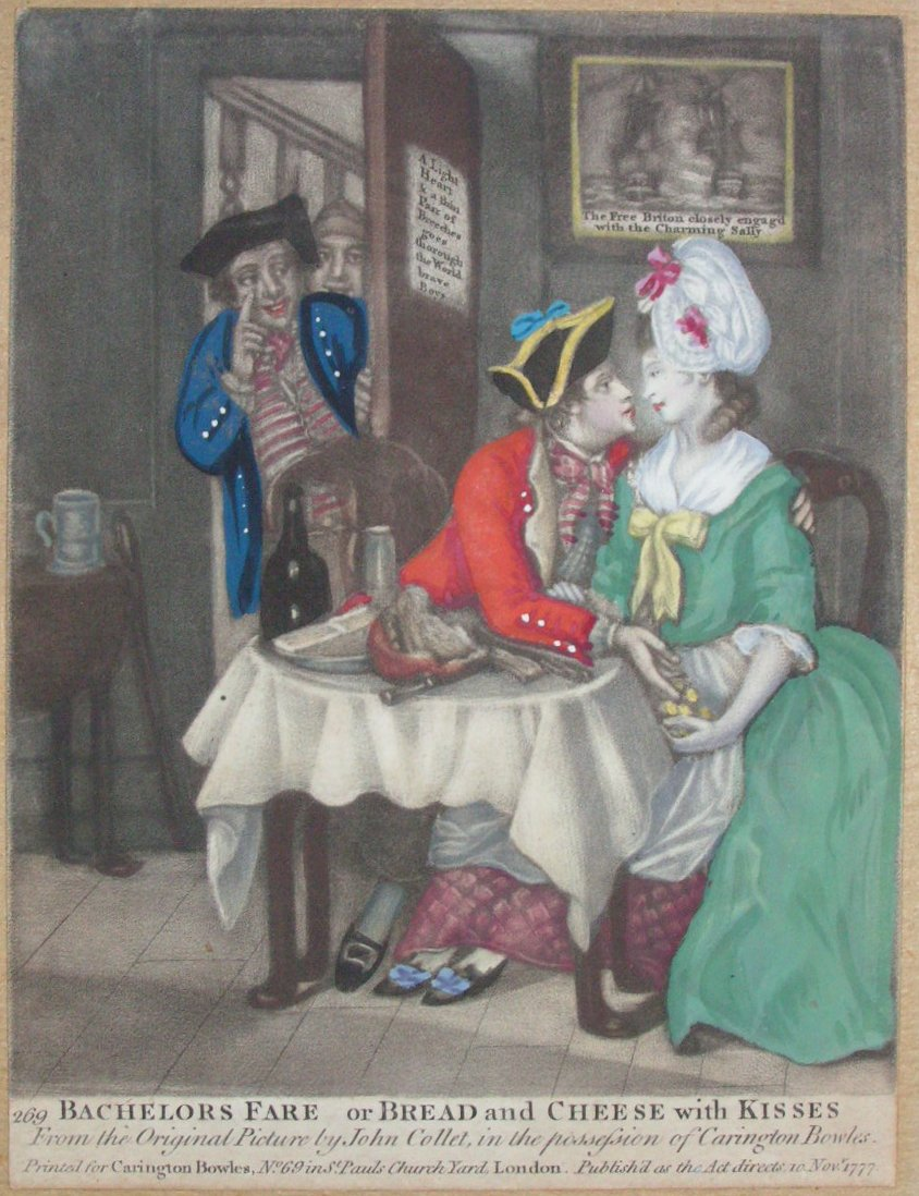 Mezzotint - Bachelors Fare or Bread and Cheese with Kisses 269