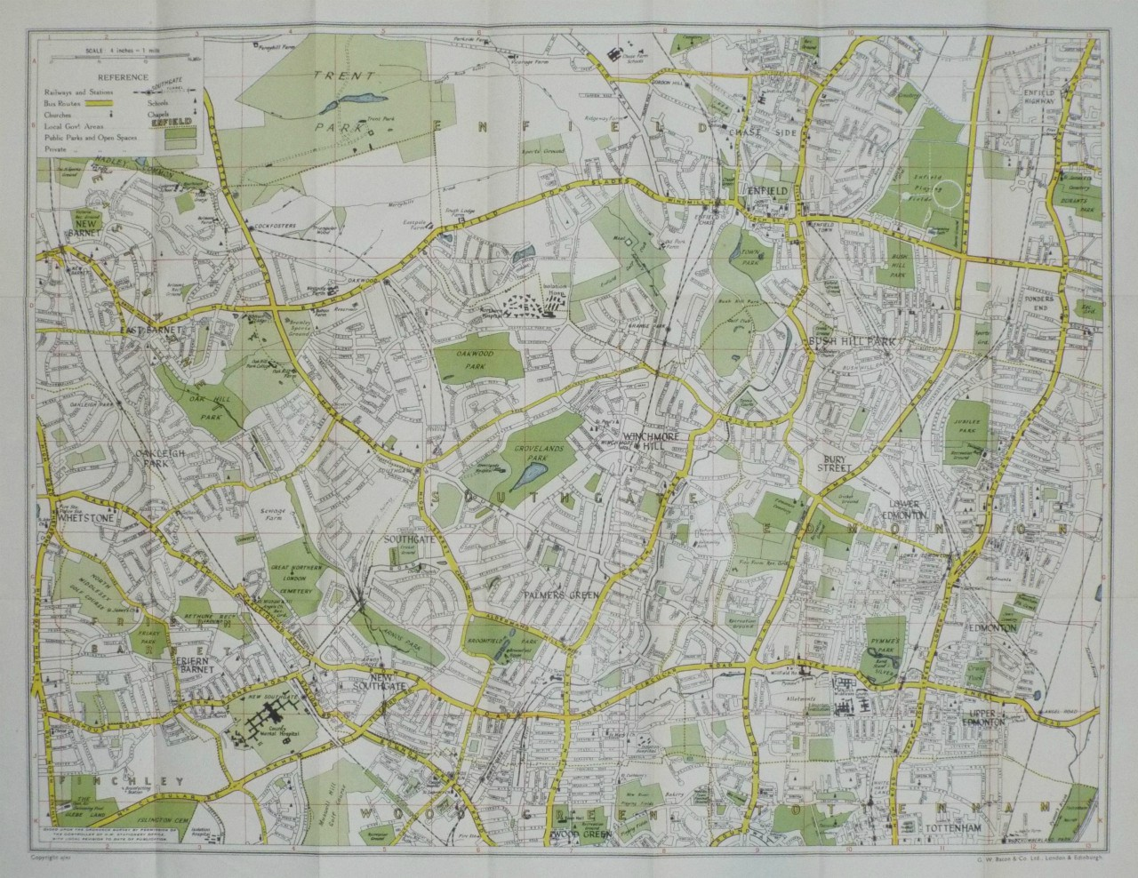 Map of Palmers Green - Southgate