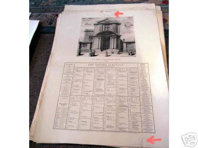 Print - Christ Church S E (Oxford Almanack 1959)