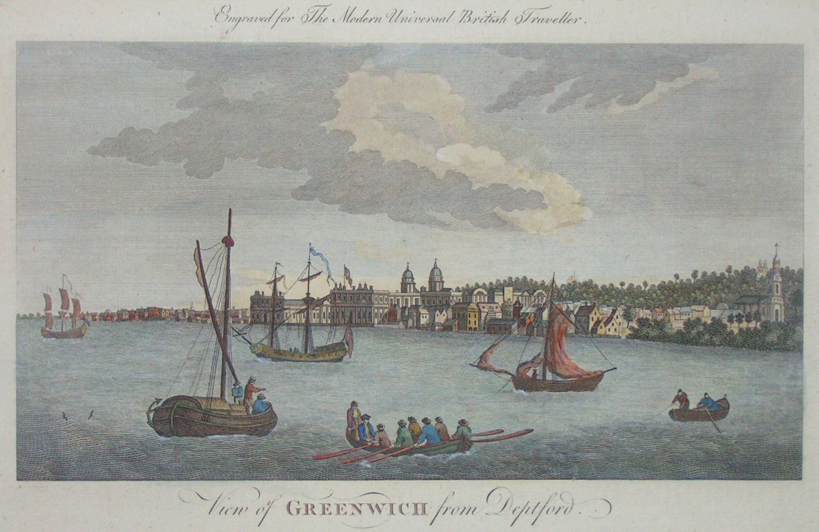 Print - View of Greenwich from Deptford